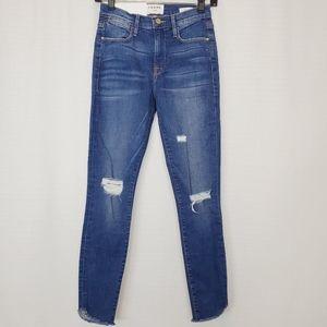 Frame Le High Skinny Crop Jean In Rowstockton 25